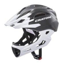 Cratoni Fahrradhelm C-Maniac (Full Protection) schwarz/weiss matt