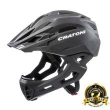Cratoni Fahrradhelm C-Maniac schwarz matt