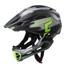 Cratoni Fahrradhelm C-Maniac PRO (Full Protection) schwarz/lime matt