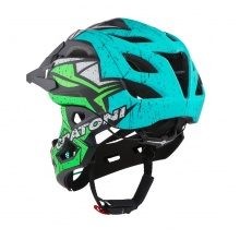 Cratoni Fahrradhelm C-Maniac PRO (Full Protection) blau/lime matt