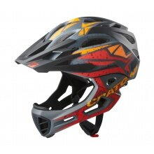 Cratoni Fahrradhelm C-Maniac PRO (Full Protection) schwarz/rot/orange matt