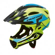 Cratoni Fahrradhelm C-Maniac PRO (Full Protection) gelb/blau