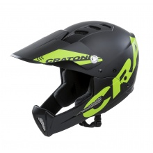 Cratoni Fahrradhelm Shakedown (Full Protection) schwarz/lime matt