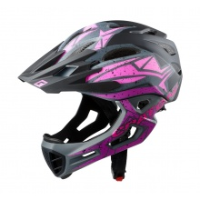 Cratoni Fahrradhelm C-Maniac PRO (Full Protection) schwarz/pink/purple matt