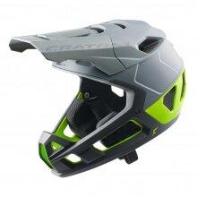 Cratoni Fahrradhelm Interceptor 2.0 (Full Protection) grau/lime matt