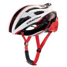 Cratoni Fahrradhelm C-Bolt weiss/schwarz/rot