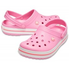 Crocs Crocband Clog pink lemonade/weiss Sandale Herren/Damen