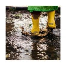 Crocs Handle It Rain Boot gelb Gummistiefel Kinder
