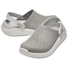 Crocs LiteRide Clog grau/weiss Sandale Herren/Damen