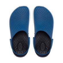 Crocs LiteRide Clog vividblau/weiss Sandale Herren/Damen