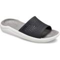 Crocs LiteRide Slide schwarz/grau Sandale Herren