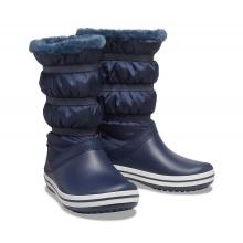 Crocs Gummistiefel Crocband Boot wasserfest mit Innenfutter navy Damen