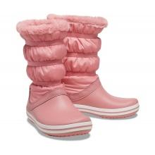 Crocs Gummistiefel Crocband Boot wasserfest mit Innenfutter pink Damen