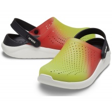 Crocs LiteRide Clog Color Dip 2021 gelb/rot Sandale Herren/Damen