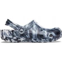 Crocs Classic Marbled Clog weiss/schwarz Sandale Herren/Damen