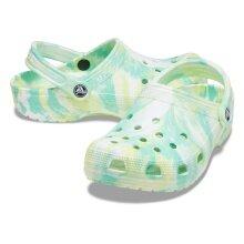 Crocs Classic Marbled Clog pistazie/multi Sandale Herren/Damen