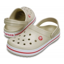 Crocs Crocband Clog stucco/melon Sandale Damen