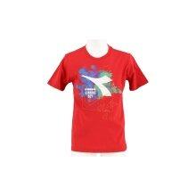 Diadora Tshirt Logo rot Boys