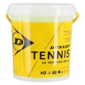 Dunlop Tennisbälle Training (drucklos) gelb 60er inkl. Eimer