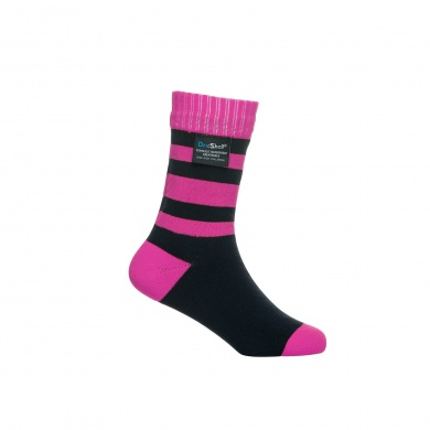 DexShell Socke Stripe wasserdicht pink Kinder 1er