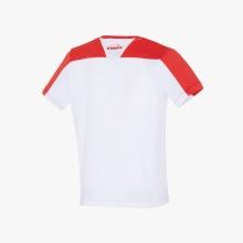 Diadora Tshirt Team 2017 weiss/rot Boys