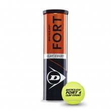 Dunlop Fort Clay Court Tennisbälle 4er