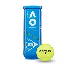 Dunlop Australian Open Tennisbälle 3er Dose