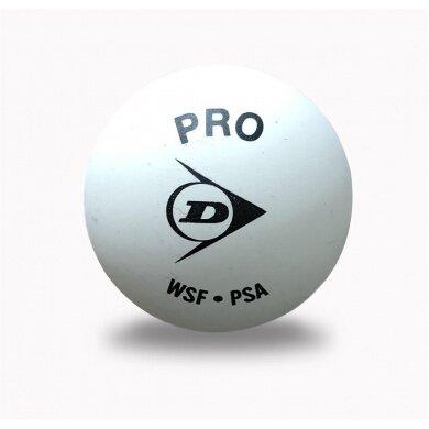 Dunlop Squashball Pro (2 Punkt) <b>WEISS</b> einzeln