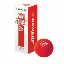 Dunlop Squashball FUN Mini Junior rot 3er