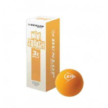 Dunlop Squashball PLAY Mini Junior orange 3er
