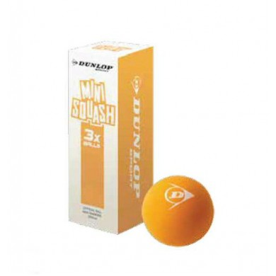 Dunlop Squashball PLAY Mini Junior orange 3er