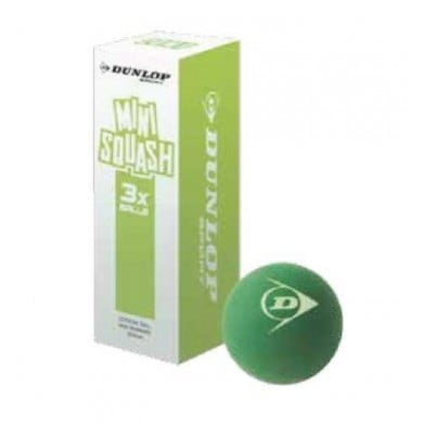 Dunlop Squashball COMP Mini Junior grün 3er