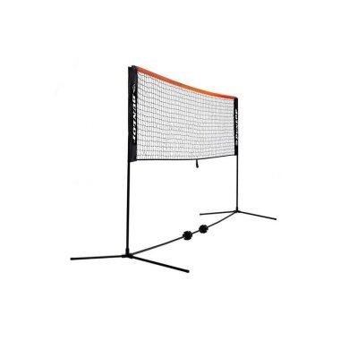 Dunlop Netz für Tennis/Badminton/Federball höhenverstellbar - Breite 6 Meter