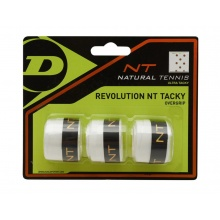 Dunlop Revolution NT Tacky 0.5mm Overgrip 3er weiss