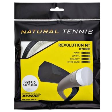 Besaitung mit Dunlop Revolution NT hybrid silber/schwarz