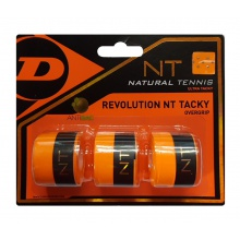 Dunlop Overgrip Revolution NT Tacky 0.5mm orange 3er
