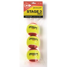Dunlop Stage 3 Methodikbälle 3er