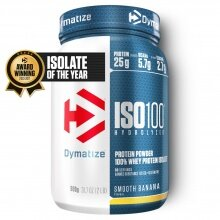 Dymatize Iso100 Hydrolyzed Isolat Protein Pulver Smooth Banana 900g Dose