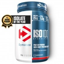Dymatize Iso100 Hydrolyzed Isolat Protein Pulver Erdbeere 900g Dose