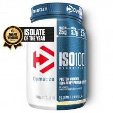 Dymatize Iso100 Hydrolyzed Isolat Protein Pulver Gourmet Vanille 900g Dose