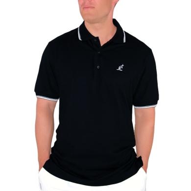 Australian Polo Piquet schwarz/weiss Herren