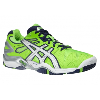Asics Gel Resolution 5 neongrün Tennisschuhe Herren