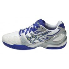 Asics Gel Resolution 5 Clay weiss/blau Tennisschuhe Damen