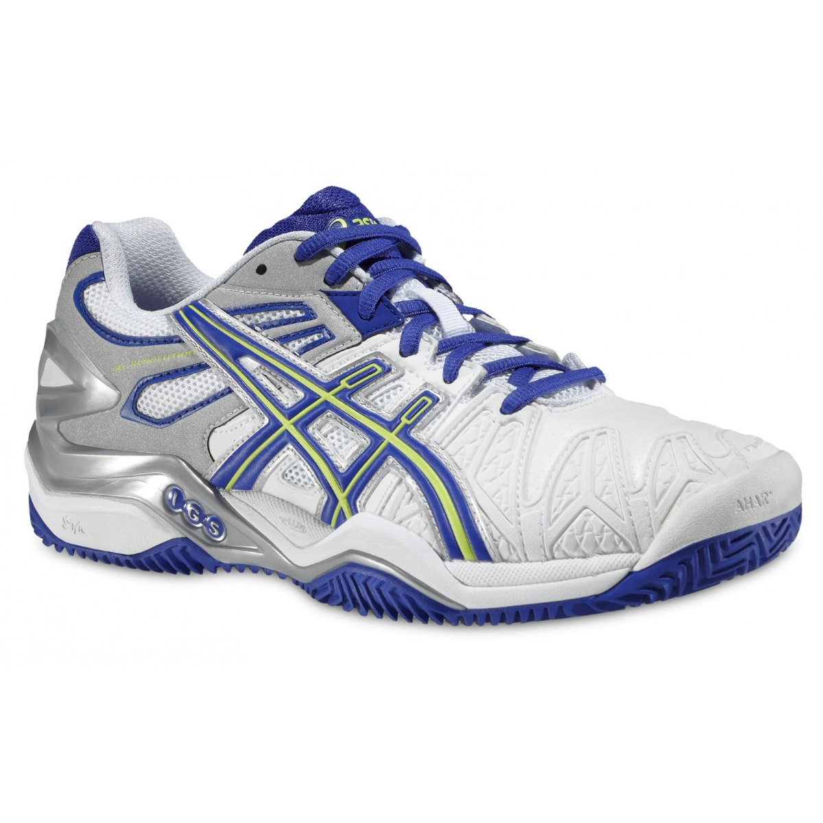 asics gel resolution 5 clay weiss blau tennisschuhe damen versandkostenfrei online bestellen. Black Bedroom Furniture Sets. Home Design Ideas