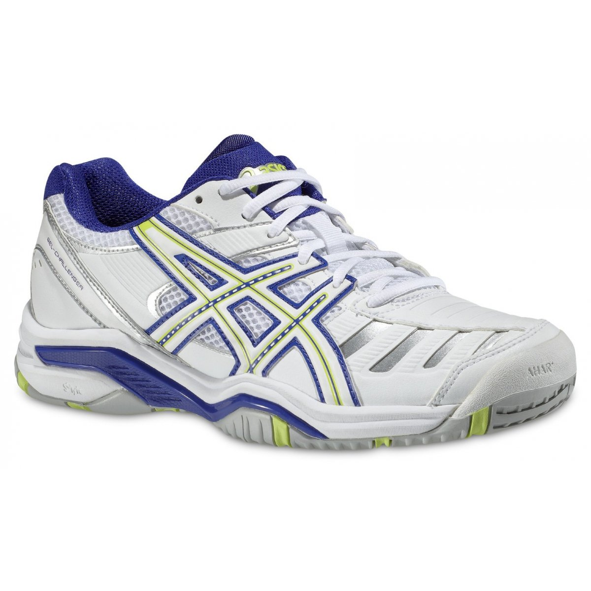 asics gel challenger 9 weiss blau tennisschuhe damen versandkostenfrei online bestellen. Black Bedroom Furniture Sets. Home Design Ideas