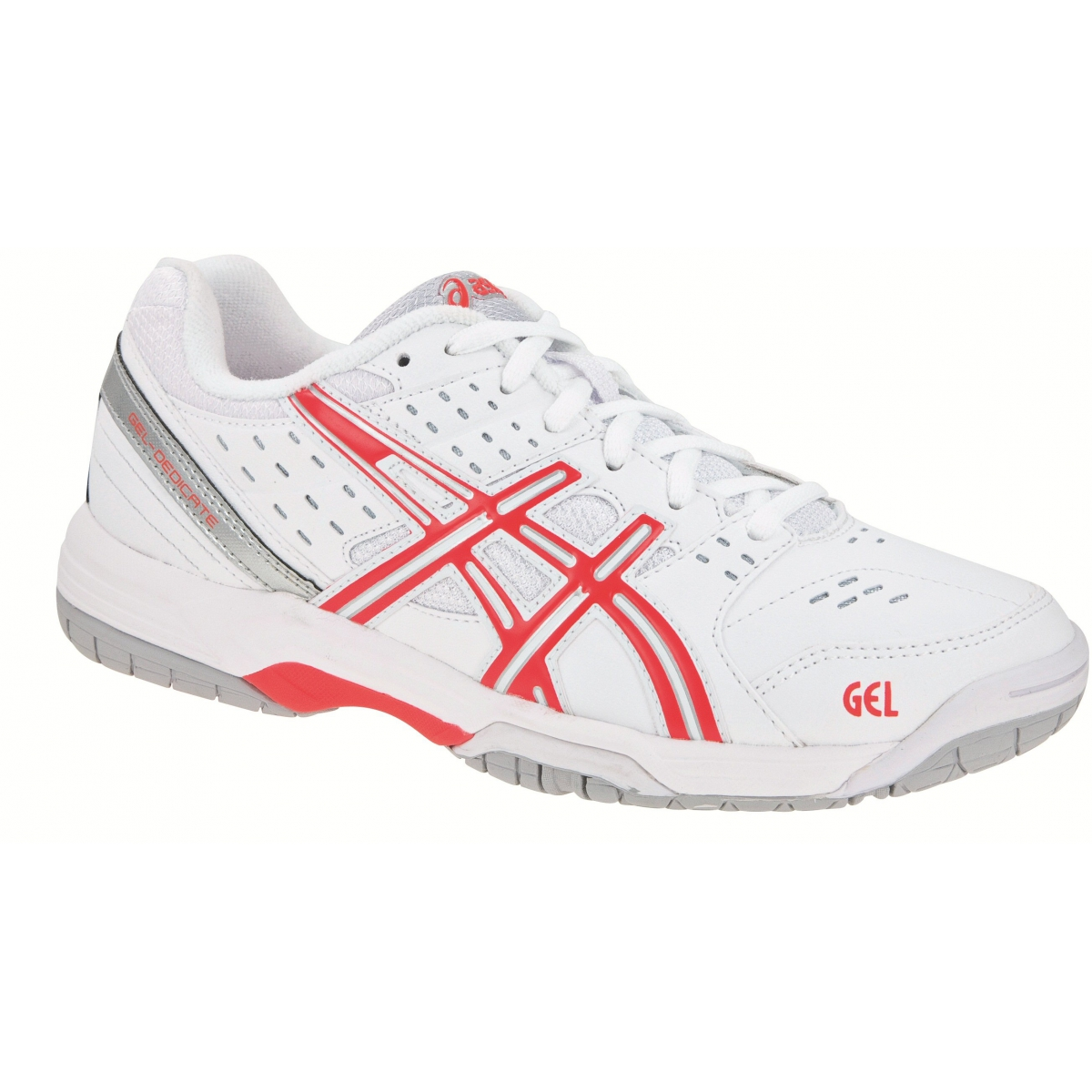 asics gel dedicate 3 weiss rot tennisschuhe damen gr e 44 5 online bestellen. Black Bedroom Furniture Sets. Home Design Ideas