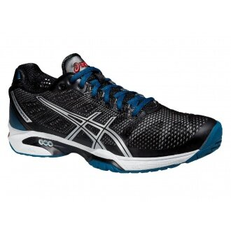 Asics Gel Solution Speed 2 schwarz/blau Tennisschuhe Herren