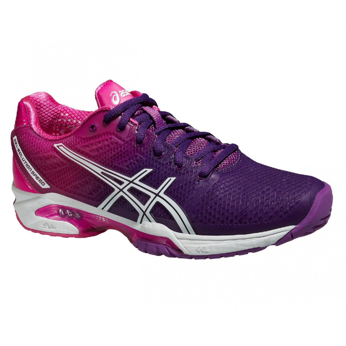 Asics Gel Solution Speed 2 hotpink Tennisschuhe Damen ...
