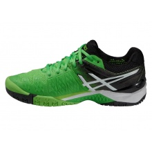 Asics Gel Resolution 6 2015 flashgrün Tennisschuhe Herren