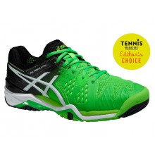 Asics Gel Resolution 6 flashgrün Tennisschuhe Herren